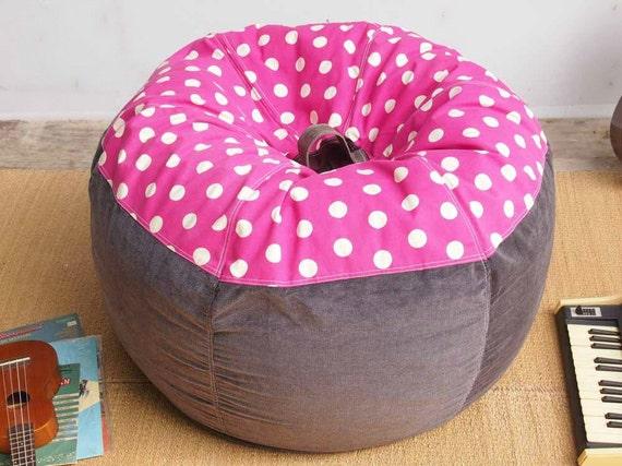 Strawberry Muffin Polka Dot Bean Bag Chair Cover