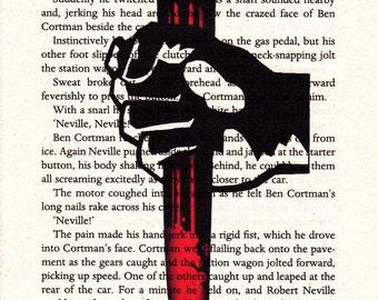 I Am Legend Printed Illustration on Page from Novel