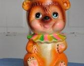 Teddy Bear Clown Coin Bank