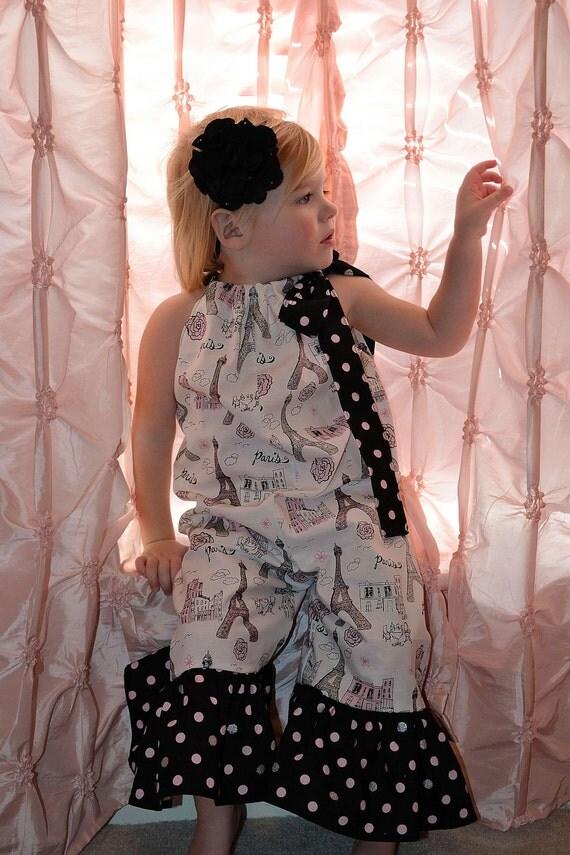 girls Pillowcase Jumper...PARIS...sizes 18-24M to 5