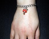 70s Toadstool Charm Bracelet