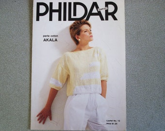Vintage PHILDAR Knitting Leaflet Issue 12.