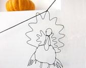 Thanksgiving Garland Wire Art