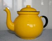 Vintage Enamelware Teapot, Poland