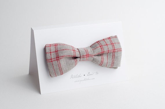 Casual men's bow tie grey