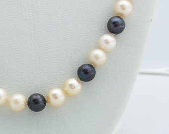 Black and White Cultured Pearls