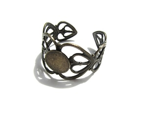 Bronze Ring Setting Component 30 PIECES
