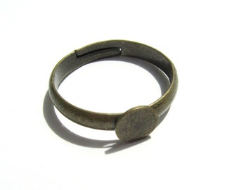 Bronze Ring Shanks Settings 10 PIECES