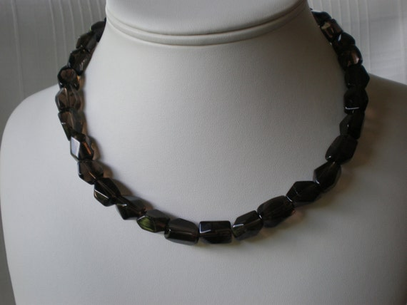 Smoky quartz necklace Cyber Monday Black Friday birthstone healing Christmas present Hanukkah gift