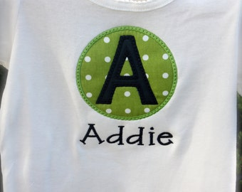 Personalized Initial Applique Tee