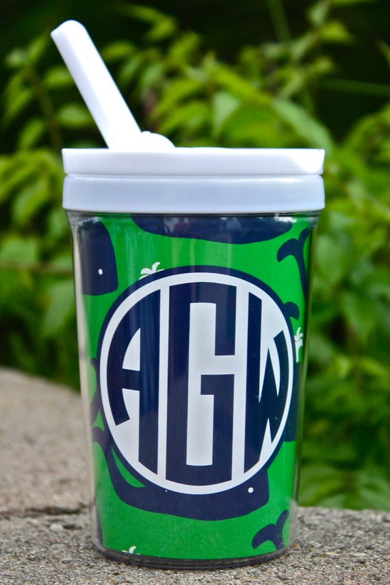 Personalized Sippy Cup with Straw - Christina