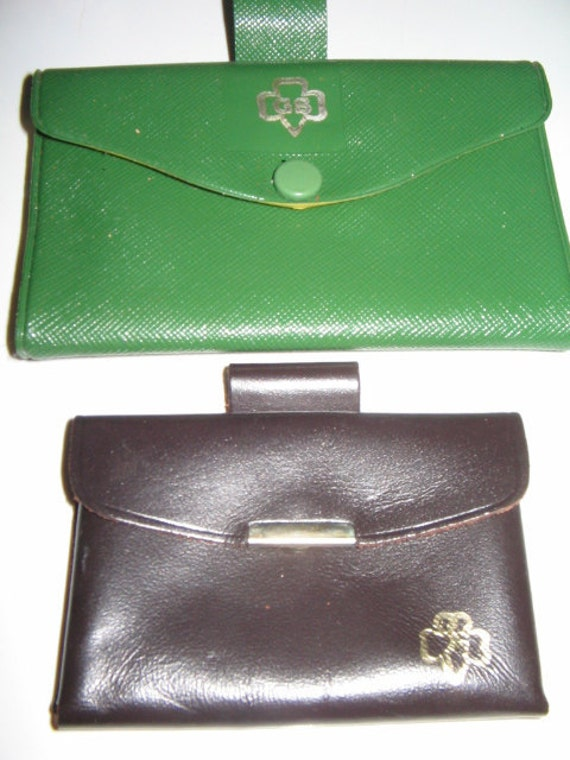 Sale Vintage Girl Scout Wallet And Brownie Change Purse