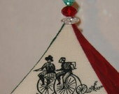 Penny Farthing Bicycle Octahedron Polyhedron Variation Ornament