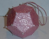 Baby's First Dodecahedron Polyhedron Ornament - Pink