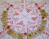 Will You Marry Me - Scrabble Tile Ornament