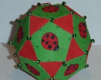 Ladybug Icosidodecahedron Polyhedron Ornament