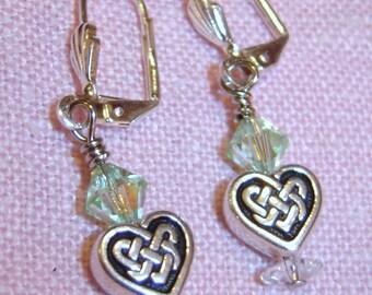 SALE! Silver Celtic Earrings