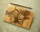 Butterfly Design Pyrography Moleskine Notebook (Mini) - Butterfly Collector.