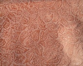 Stunning Coral Peach Pink Lambskin Embossed with Floreale Pattern Approx 7 Square Feet