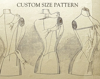 Custom size 1920 '30 '40 '50 sewing pattern.