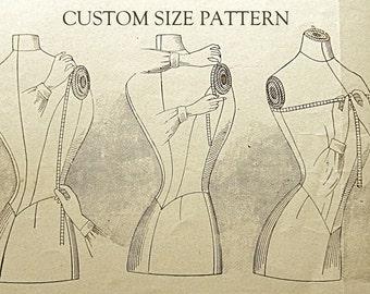 Custom size 1920 '30 '40 '50 sewing pattern.