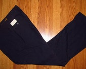 Vintage 1960s Skinny Leg Rayon Acetate Adjustable Waist Pants Slacks size 29 x 32 MOD NEW Deadstock NWT