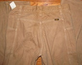 Vintage 1970s Lee Tan Brown Bell Bottom Pants Size 31 x 34 Made in USA Sanforized Talon 42 Zipper