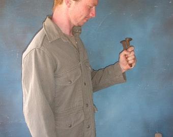 ranger jacket whipcord vintage wool workclothes grey thug life fall fashion from Diz Has Neat Stuff