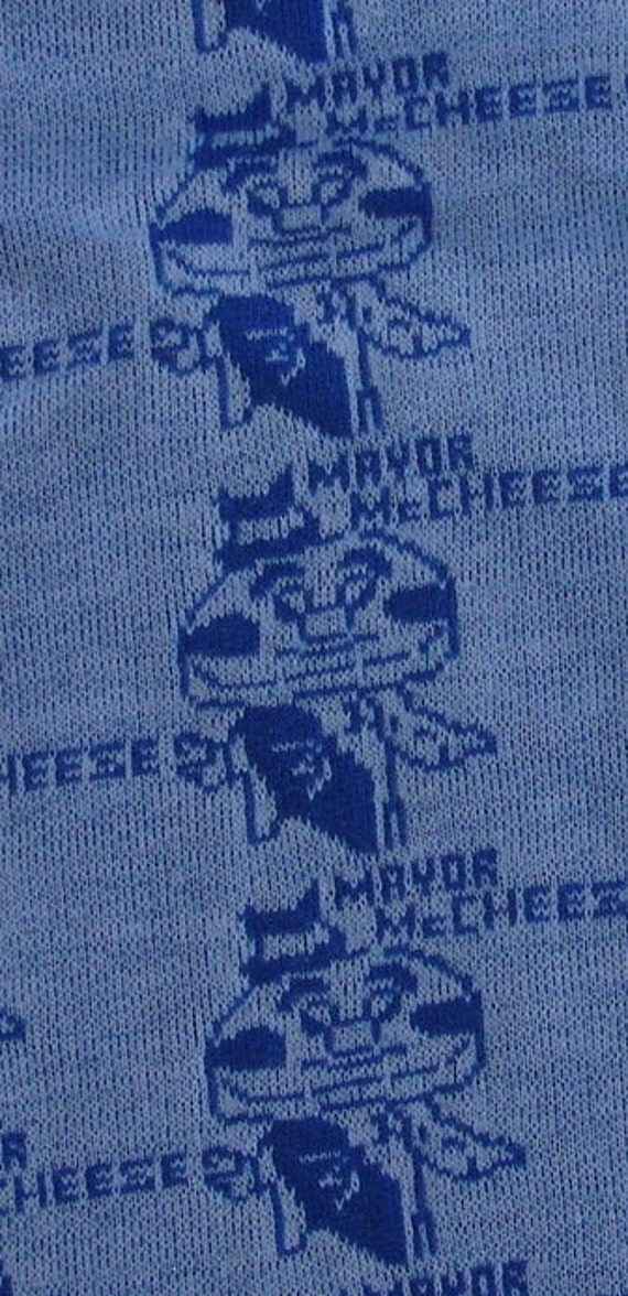 vintage fabric Mayor Mc Cheese  Mc Donalds Mickey D's cotton tubular knit yardage from Diz Has Neat Stuff