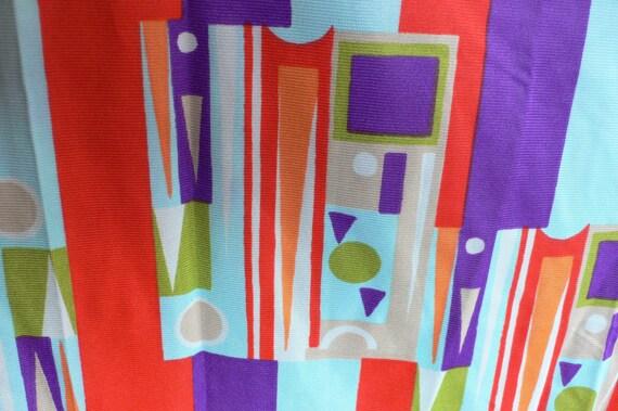 1960s 4 yards fabric mod op art orange purple bold graphic from Diz Has Neat stuff
