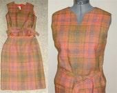 Vintage Donovan Galvani Dress Plaid Wool Suit