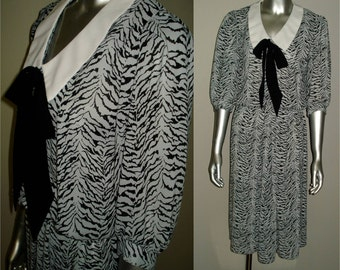 Vintage 1980s Sheer Secretary Dress