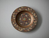 RESERVED for Skye Lee -- Floral Etched Brass Dish