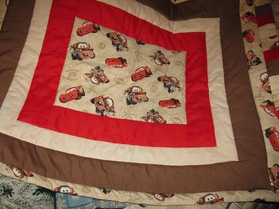 Pixar Cars baby quilt / crib quilt  / Lap quilt