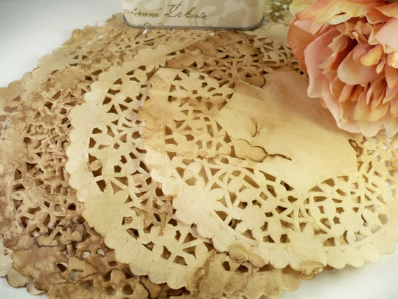 6 Inch Vintage Doilies. Wedding. Paper Doily. Rustic Wedding. Anthropologie Vintage Center Piece. Country. Gift Wrap. Set of 50.