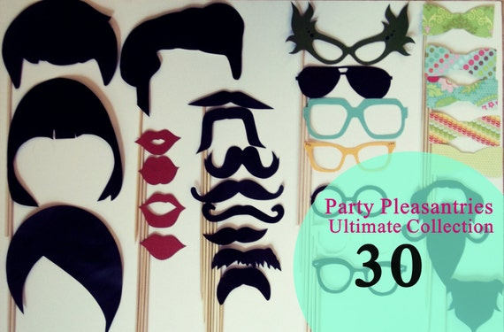 Free Shipping:   Party Pleasantries - THE ULTIMATE COLLECTION - 30 Piece Party Props on a Stick Set