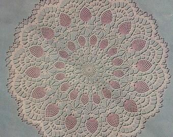 1956 Pineapple Vintage Crochet  Doily Pattern PDF