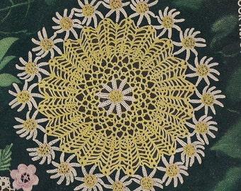 1949 Vintage Crochet Daisy Doily Pattern