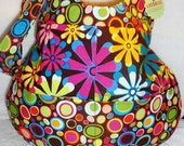 Bright Flowers and Polka Dot Hobo Bag