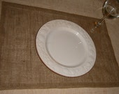 Burlap Placemats, set of 16, Lined w/ Natural Muslin