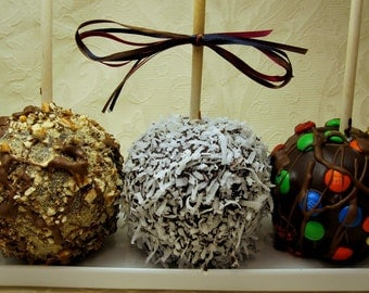 6-Pack Any Flavor Chocolate Caramel Candy Apples