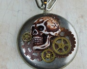 Steampunk'd Skull Necklace