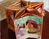 Three Little Pigs: Vintage Pop-Up Carousel Book--TREASURY FEATURED