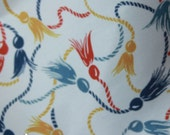 Nautical Fabric Vintage Inspired - Retro Rockabilly Cotton Fabric 1 Yard