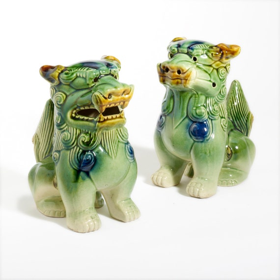 foo dogs : chinese vintage ceramic