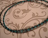 Long Feather Hair Extensions set of 2 Light Blue Grizzly and Bright Blue Grizzly with 5 FREE Crimp Beads and Looping Wire (2)