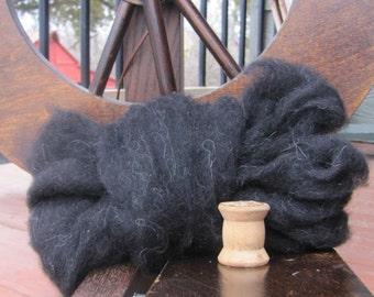 Black Shetland Wool Roving - 8 oz.
