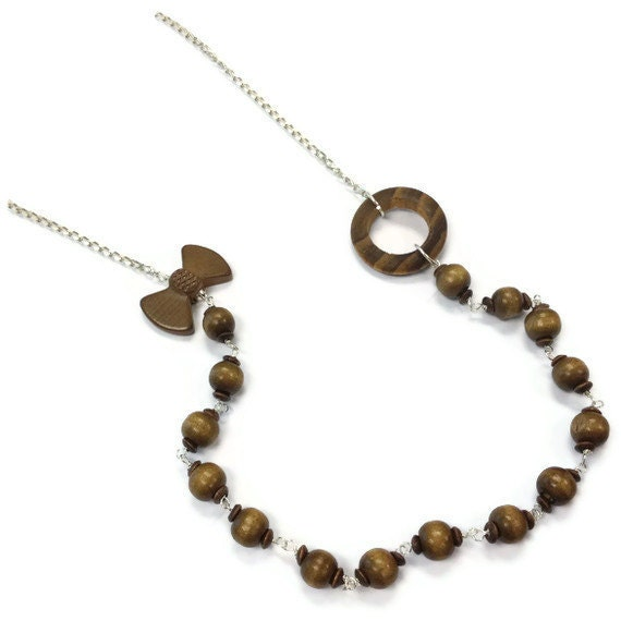 brown necklace brown jewelry wood jewellery sterling