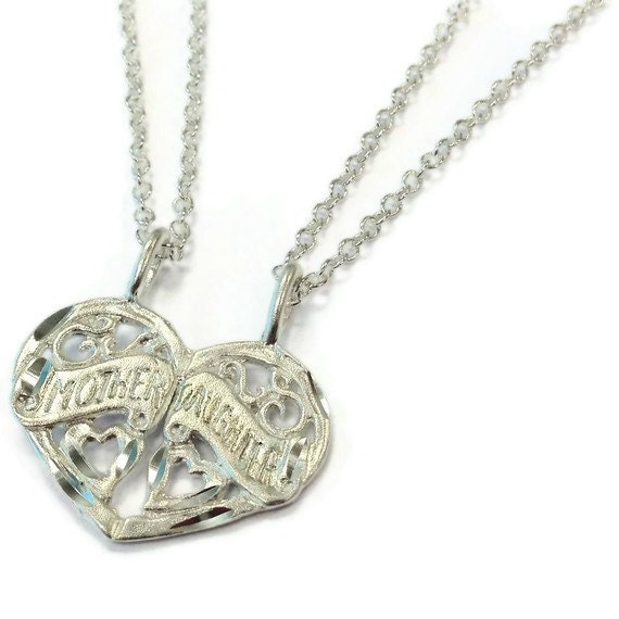 Mother Daughter Necklaces Mother's Day Gift by jewelrybycarmal