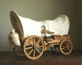 Covered Wagon, handcrafted wood, vintage model